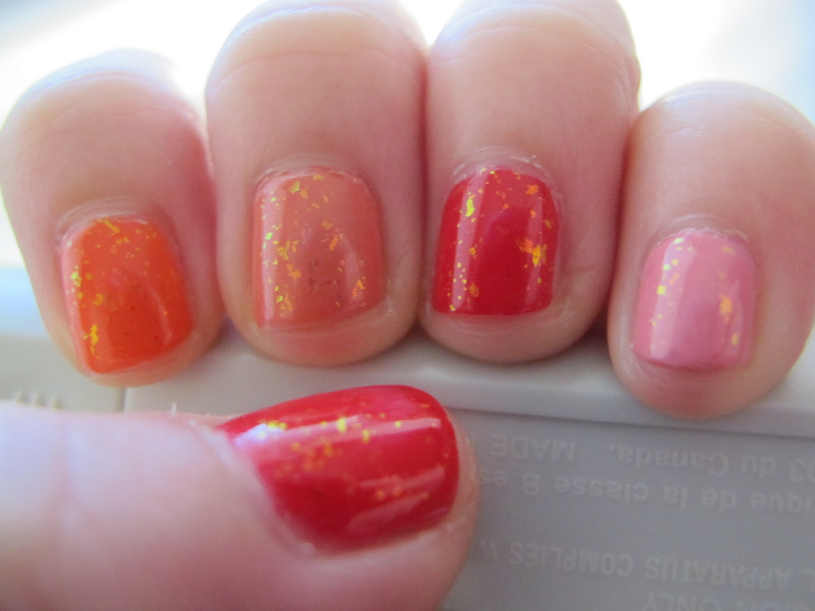 Revlon Fire And Ice Nail Polish And Lipstick Swatches