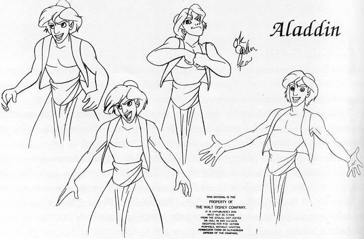 la magia de la animación: Aladdin. Personajes.