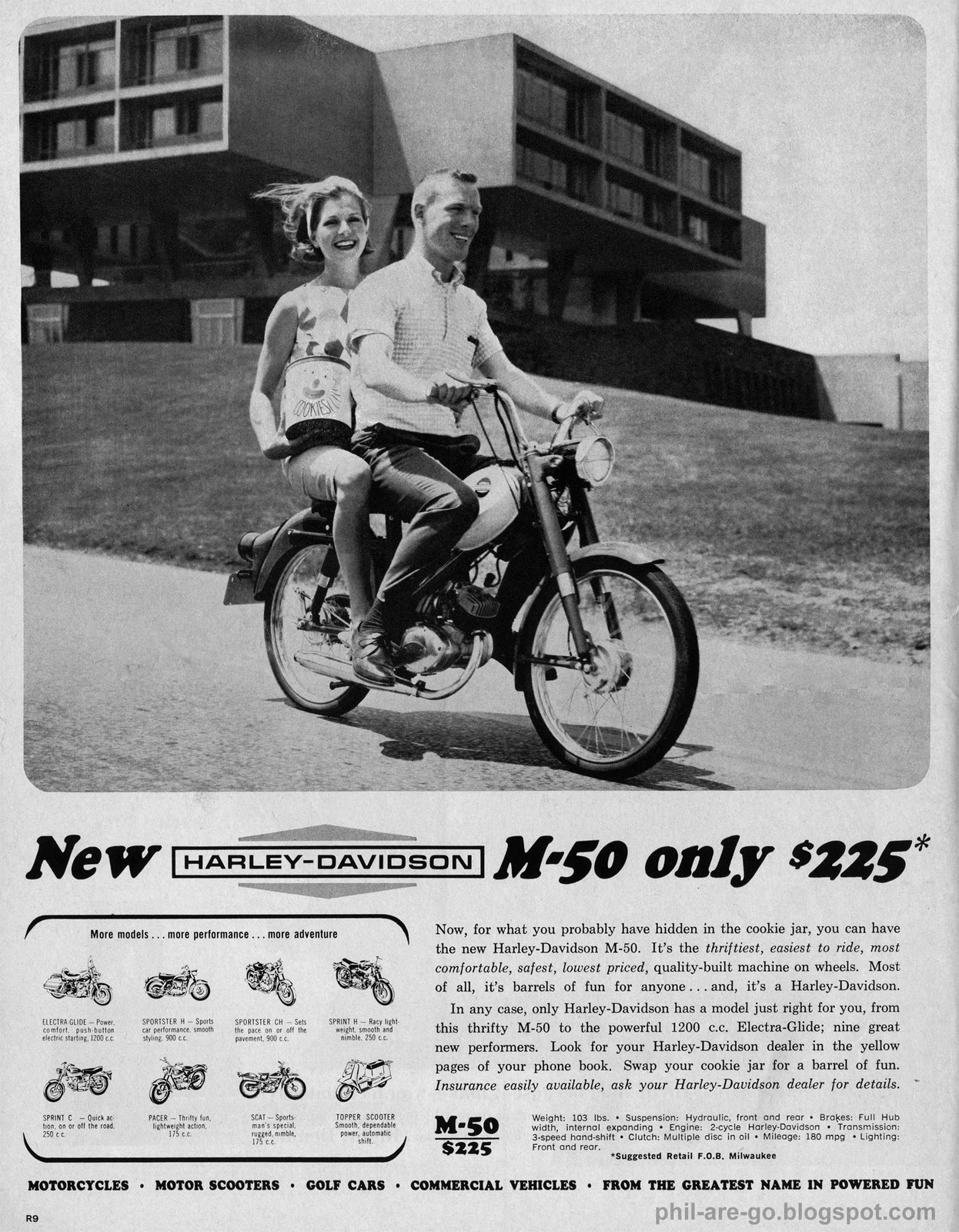 Phil Are Go!: Harley Davidson M-50 - The fake Mac of motorcycles.