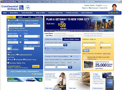 How to book Continental airlines tickets via Continental ...