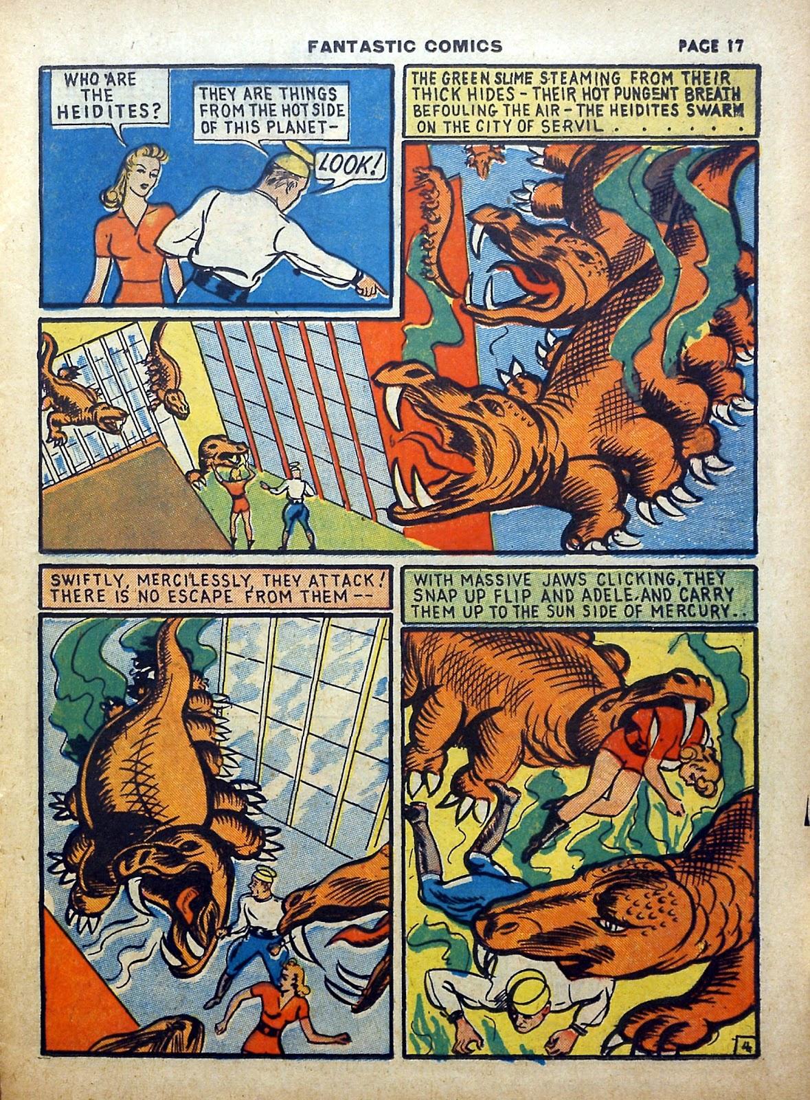 Read online Fantastic Comics comic -  Issue #5 - 18