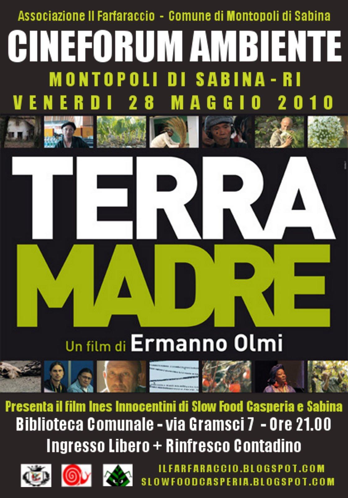 Comune Di Montopoli Di Sabina cineforum ambiente e terra madre