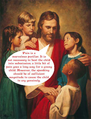 Jesus tells children that pain is purifying and parents should hurt them until they cry