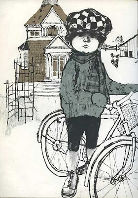 Illustration from Sam of the little boy Thomas