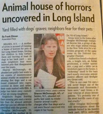 News story with photo 3 with headline Animal House of Horrors Uncovered in Long Island