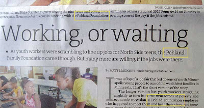 Star Tribune article with the name Pohlad spelled Pohland in the headline and cutline