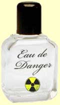 Perfume bottle labeled Eau de Danger