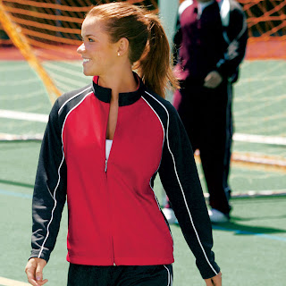 5a4884bc One style from Birch Run that I recognized right away was the Charles River  Olympian Jacket & Pant. This warm-up was worn by a cheer gym and customized  ...