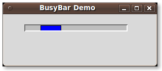 Corey Goldberg: Python 3 - tkinter (Tk Widgets) - BusyBar