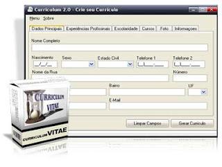 gerador de curriculum vitae 2.0 beta