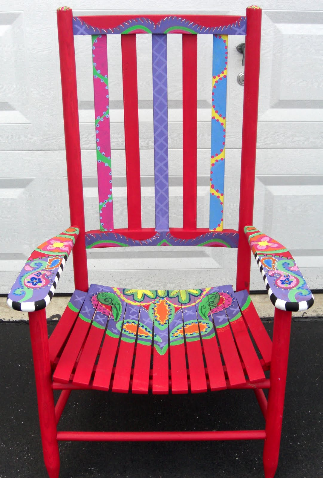 Periwinkle-Paisley: Painted Paisley Chair