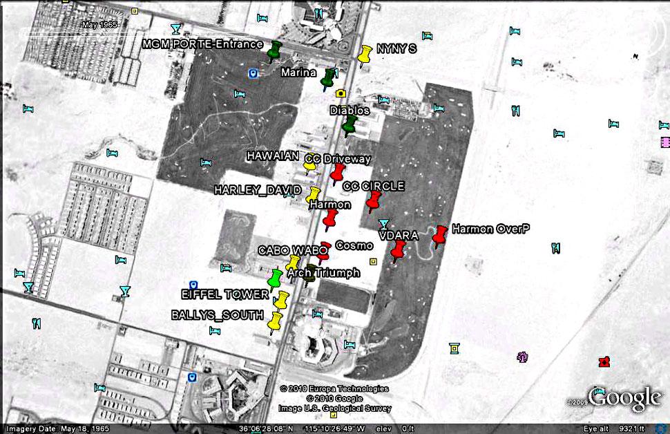 Golf Courses In Las Vegas Map.Vegas Now Then