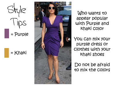 Look Popular with Purple and Khaki