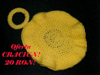 bascuta handmade galbena tricotata bratara lucrata manual cadou