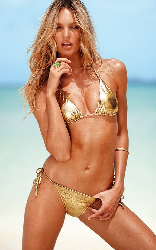 model string beach bikini Gold