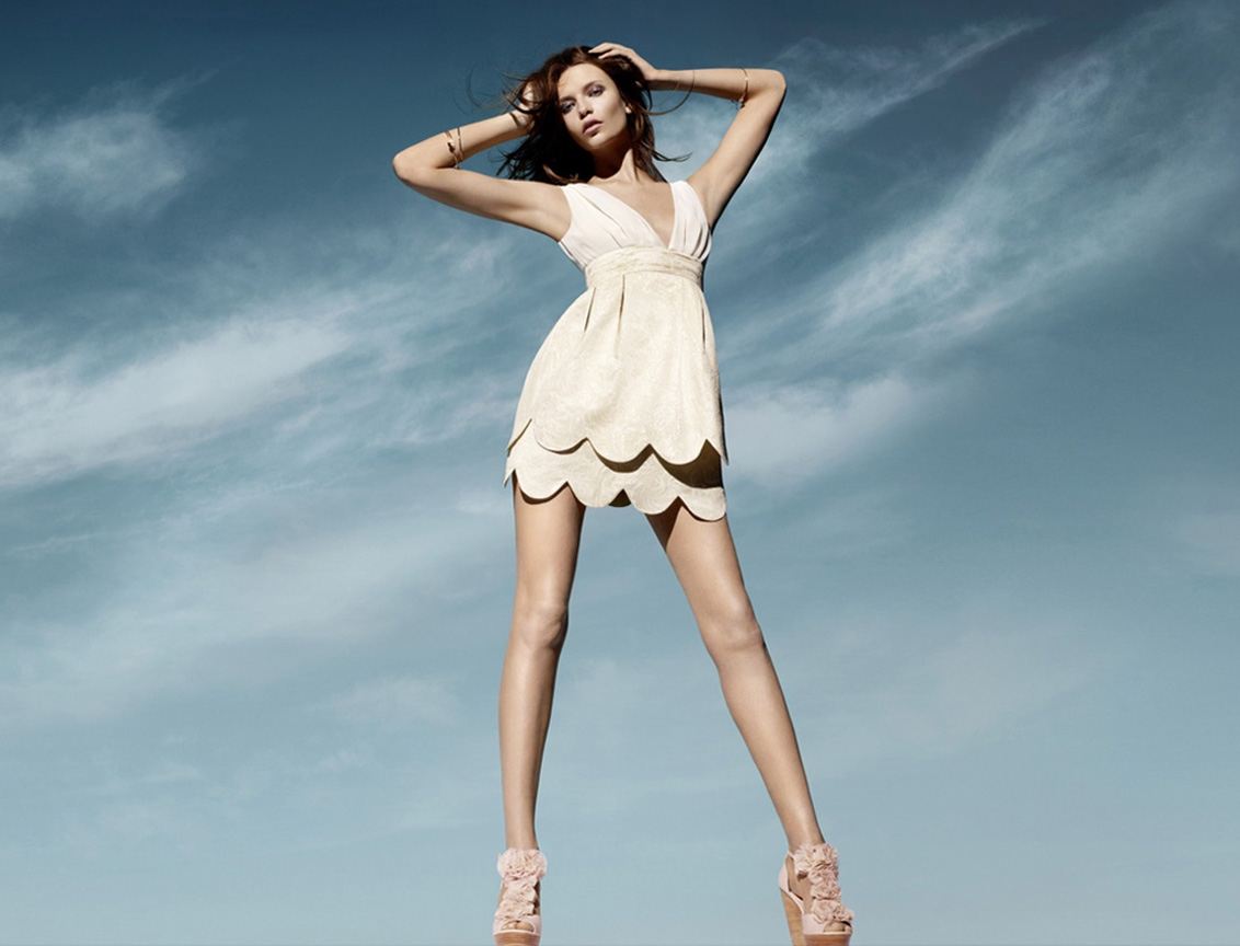 Beige Dress Picture Collection: Natasha Poly (H&M Spring 2011)