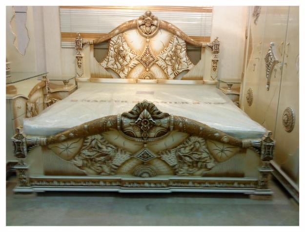 Most Beautifull Deco Paint Complete Bed Set: Pakistani Furnitures: Latest Design Bedroom Furniture