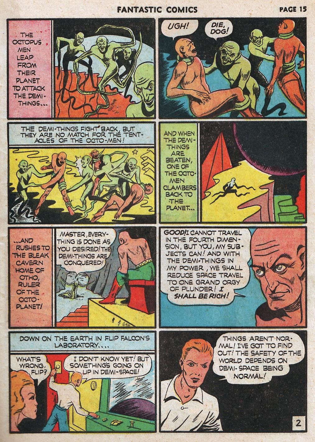 Read online Fantastic Comics comic -  Issue #17 - 17