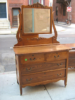 Early 1900s Oak Dresser Mirror Sold