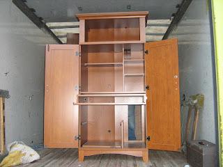 Uhuru Furniture & Collectibles: IKEA Computer Armoire - SOLD!