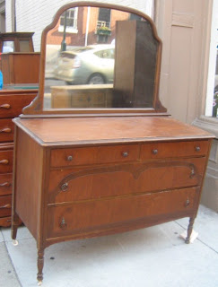Uhuru Furniture Collectibles Large Antique Dresser With Mirror Sold