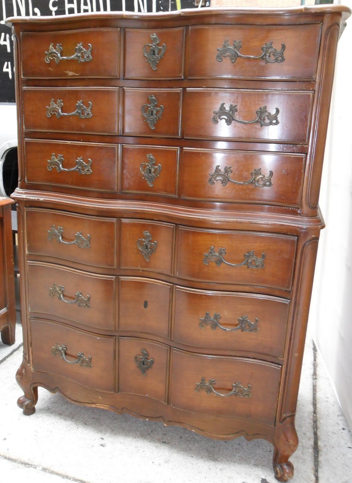 uhuru furniture & collectibles: french provincial walnut bedroom set sold