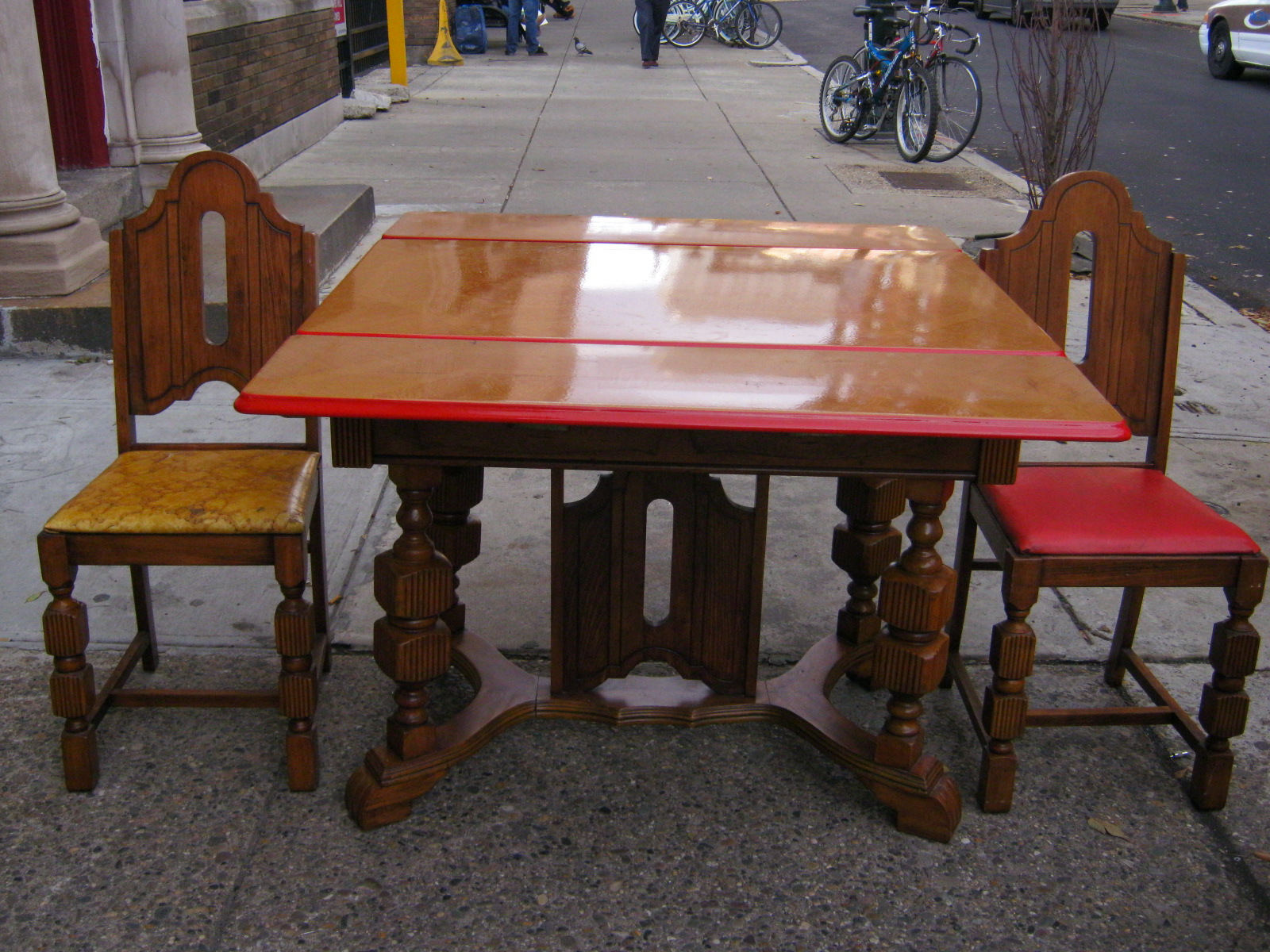 Uhuru Furniture Amp Collectibles 1930s Enamel Table And 2