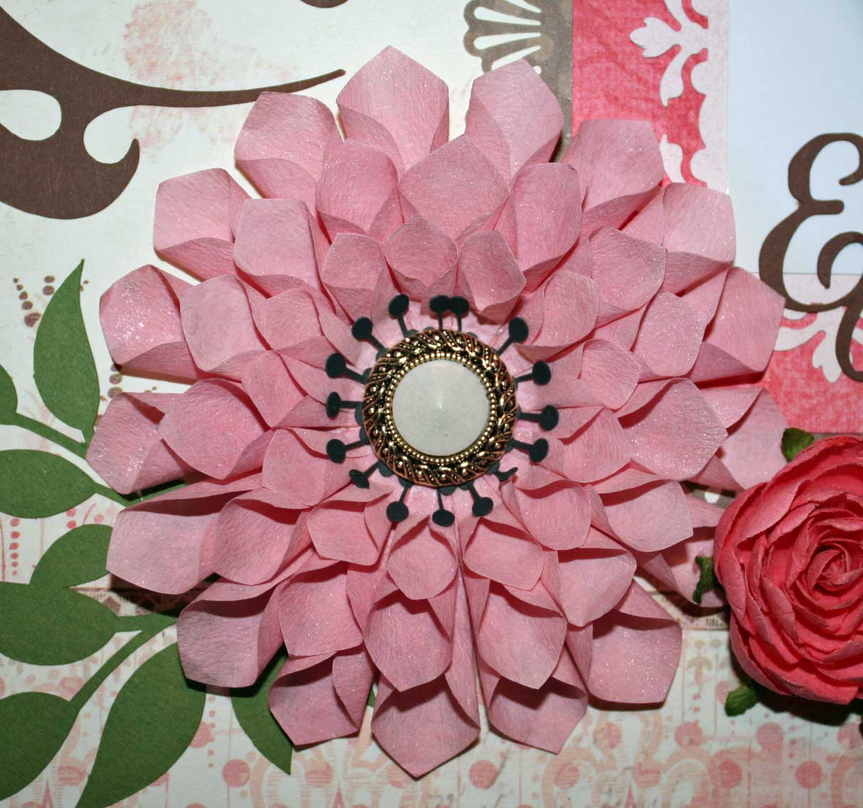 How To Make Handmade Flowers From Paper Ideas For Scrapbookers A Handmade Dahlia For Your Pages