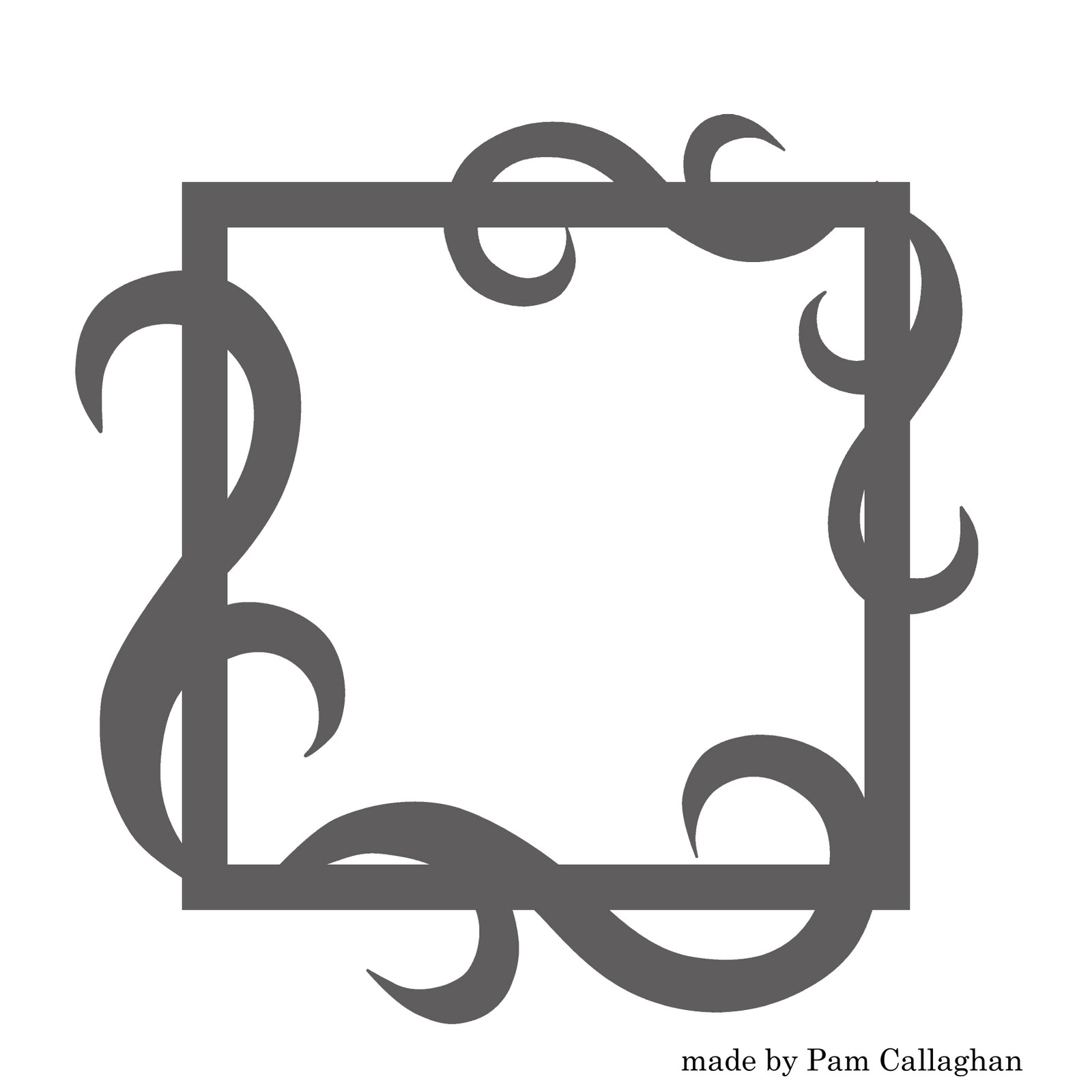 Ideas For Scrapbookers: New Decorative Flourish Frame Template