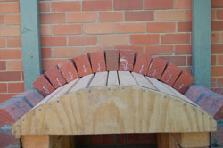 You Can See Here I Have Propped The Arch Template On Bricks It Was Slightly To High When We Actually Went Mortar So Used Some Diffe Sized