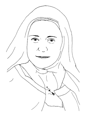 st therese of lisieux coloring page - saints of october printouts city wife country life