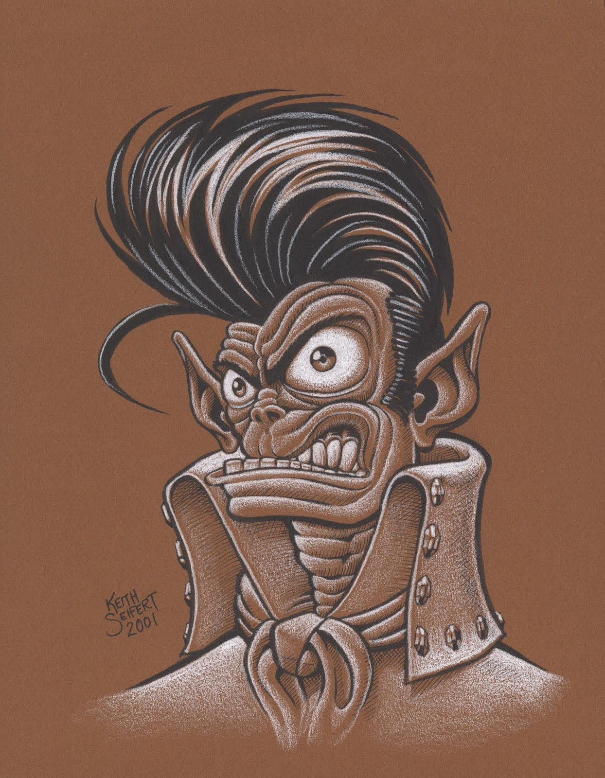 KW Monsters Blog of Evil: PENCIL DRAWINGS AGAIN?!