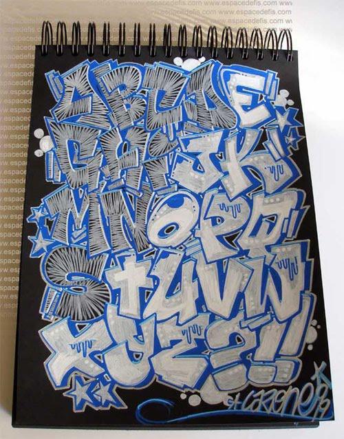 How To Write The Letter In Graffiti Alphabets Graffiti Graphic