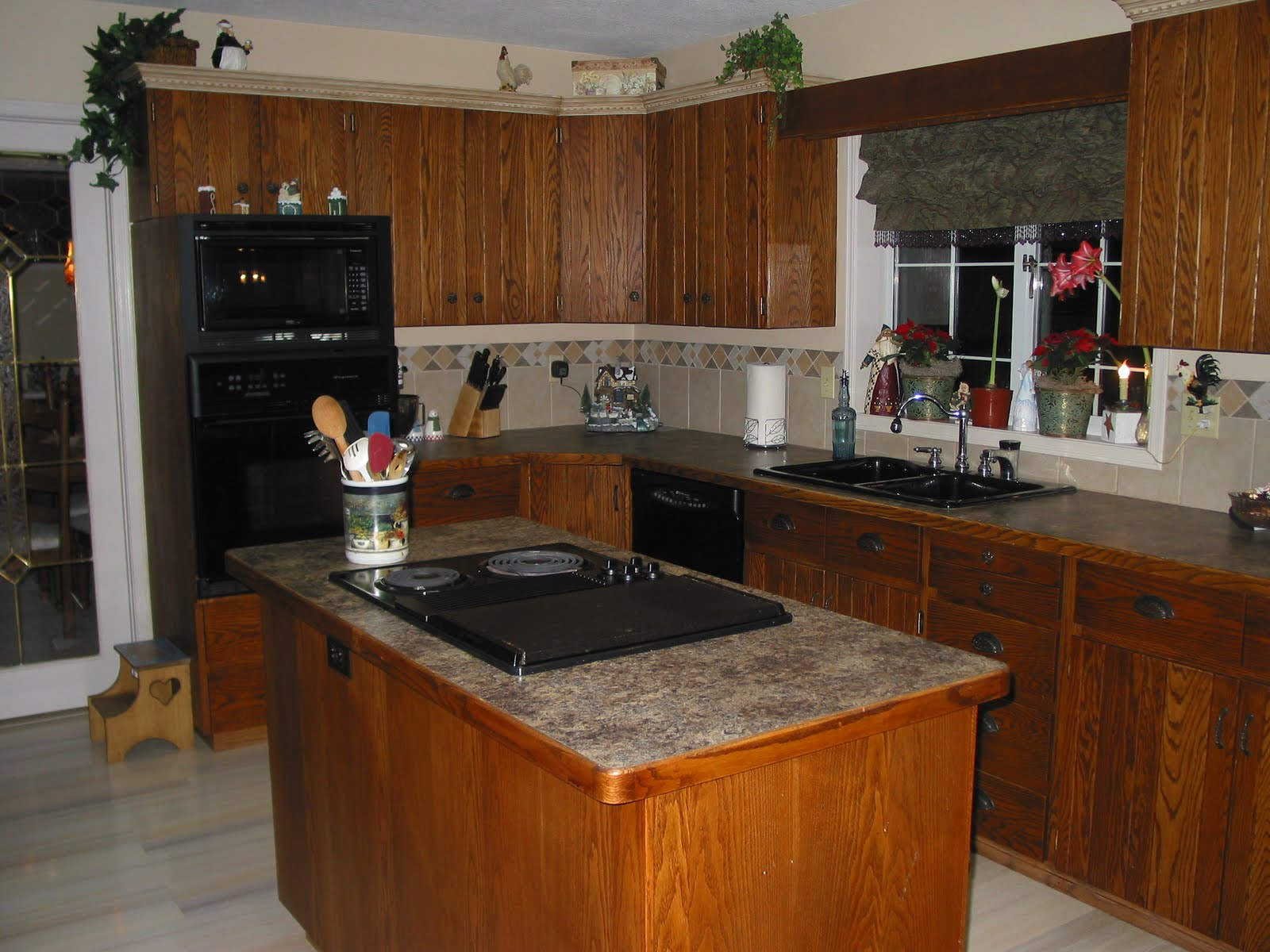 Large Kitchen Island with Stove Top