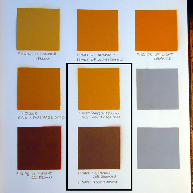 Niles Project Yellow And Brown Paint For 107