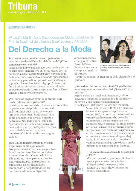 Entrevista a Maria Jesús Martín Abril en Punto CEU. Su Alma Máter. (Orgulloso de mi pareja ¡¡¡ ;-))