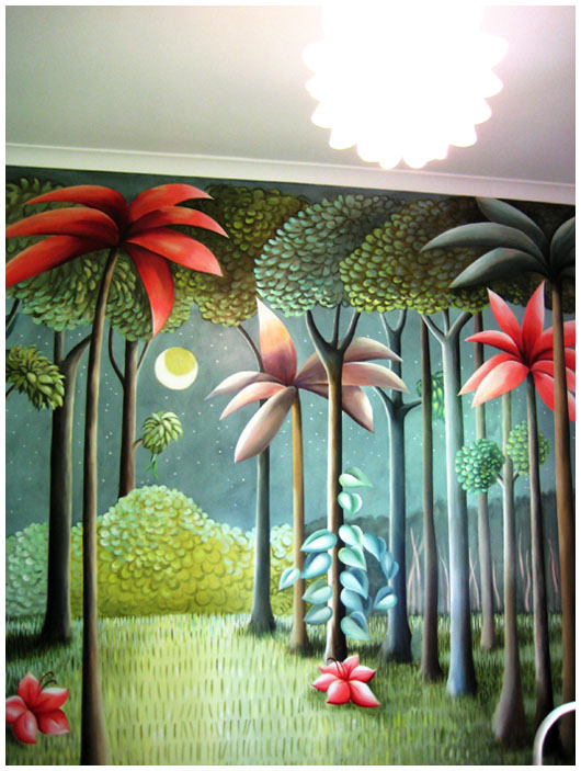The Design Files: Pacquita Maher wall murals