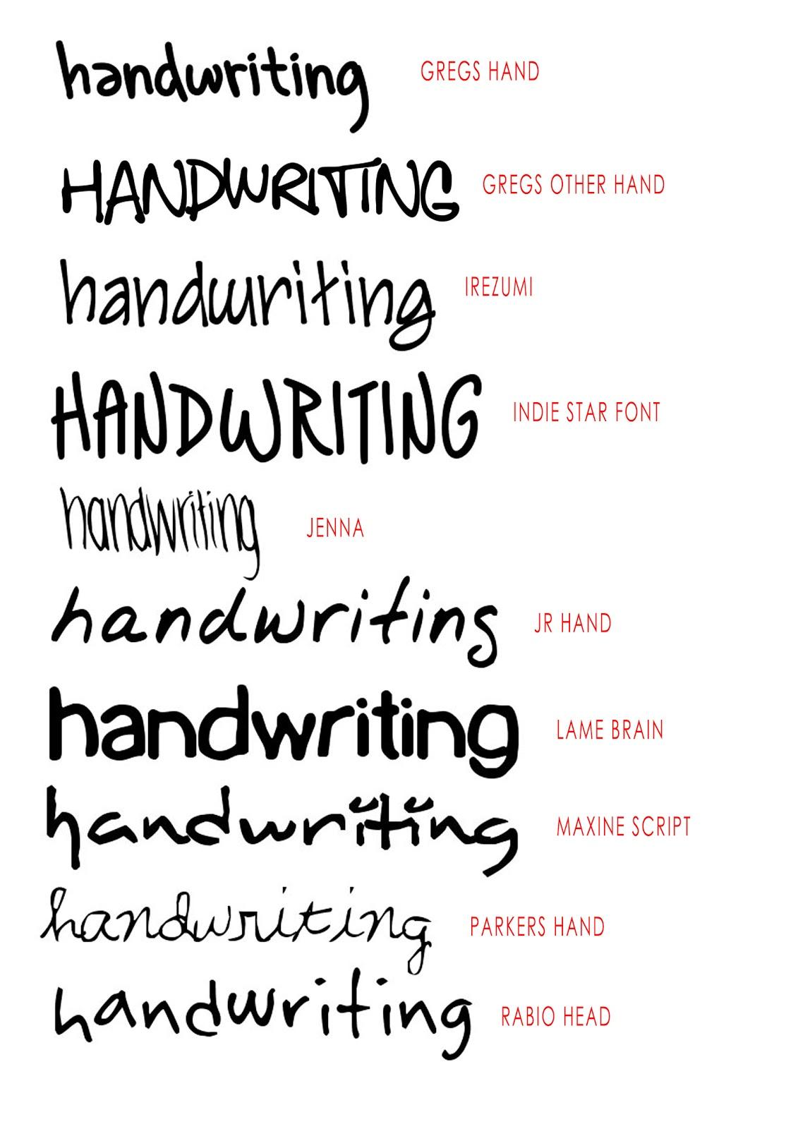 Design Context Handwriting Fonts