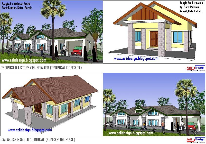 Contoh pelan rumah kampung for Plans d arkitek