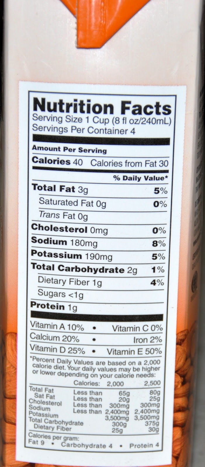 Ingredients In Whole Foods Almond Milk
