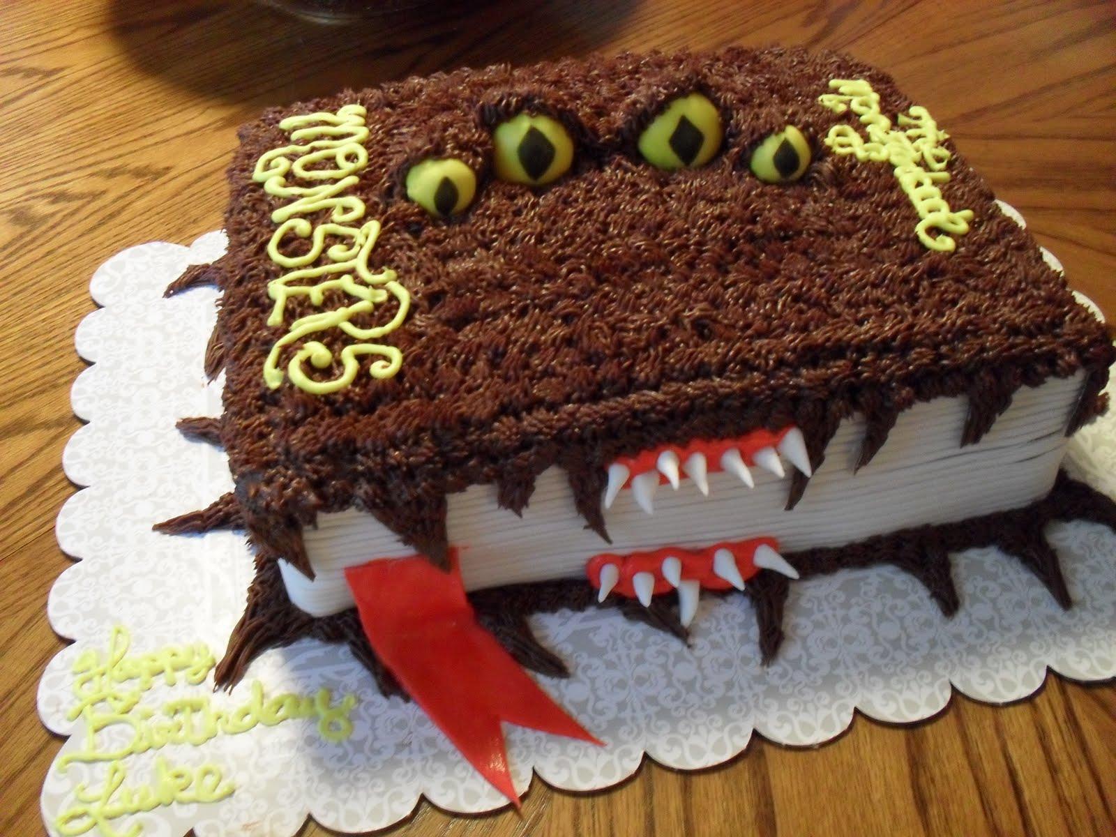 Monster Book Of Monsters Birthday Cake