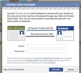 Facebook log-in
