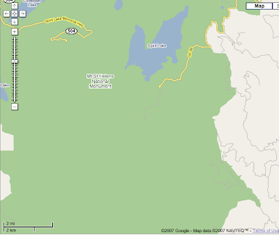 Google map of Mt. St. Helens