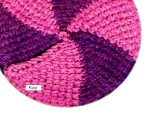 фанатам вязания посвящается вязание берета тунисским крючком