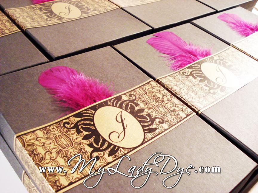Gift Box Wedding Invitations: Handcrafted Stationery: A Wedding Invitation