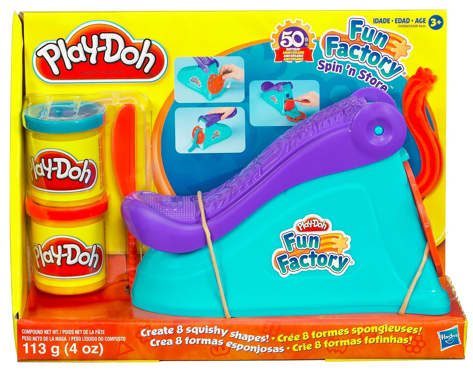 Review: PlayDoh Fun Factory Spin n' Store