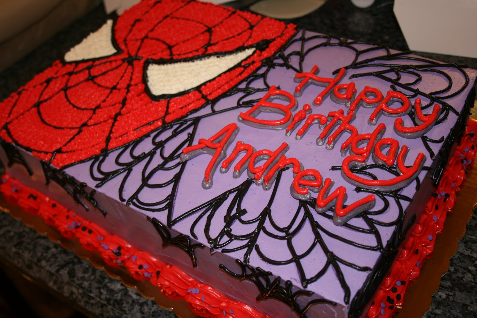 It 39 s a hoot other ways i spend my time spiderman cake for Spiderman template for cake