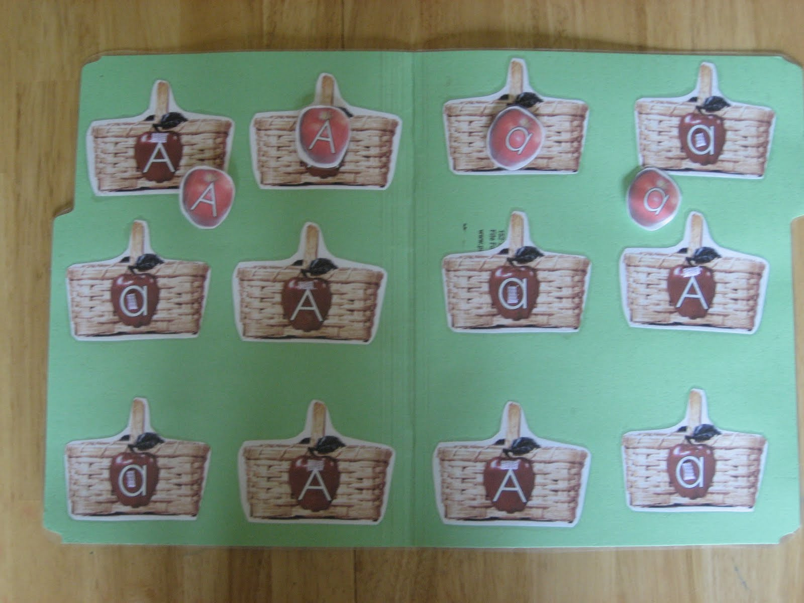 The Preschool Experiment Red Apples Creation Letter Aa