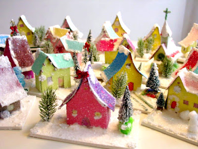 Deck The Holiday 39 S Building Glitter Houses For Your Tree