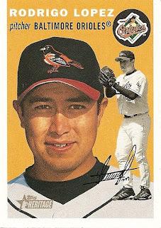 Orioles Card O The Day Rodrigo Lopez 2003 Topps Heritage 27